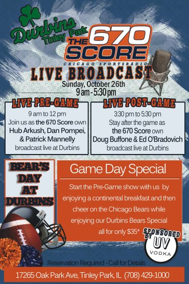 Live Broadcast with the 670 Score , Sunday Oct 26th